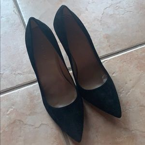 Talbots Black Suede Pointed Toe Heels Size 10B